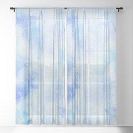 Ocean Blues Sheer Curtain