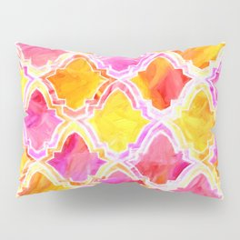 Painted Marrakesh Inspired Moroccan In Sunset Colors Pillow Sham