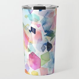 Watercolor Crystals, Gems & Diamonds Travel Mug