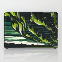 northern lights iPad Cases featuring Northern Lights  by Joey Bareither
