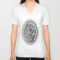 tribal V-neck T-shirts featuring Tribal by Bethany Mallick