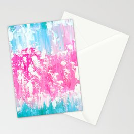 Pink and Aqua Stationery Cards