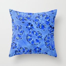 Blue Sundial Throw Pillow