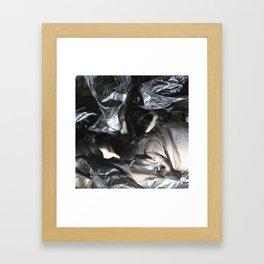 black plastic 01 Framed Art Print