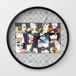 Drink Tea horizontal Wall Clock