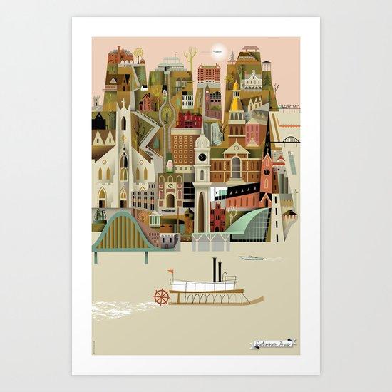 Dubuque Art Print