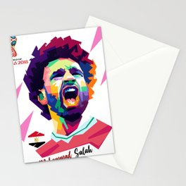 Mohammad Salah In Pop  Art Stationery Cards