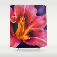 lily Shower Curtains featuring  Lily. by Mary Berg