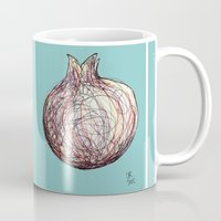 pomegranate Mugs featuring Pomegranate by Ursula Rodgers