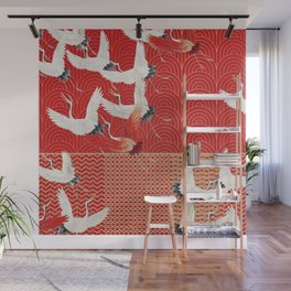 FLYING CRANES Wall Mural