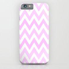Pink Textured Chevron Pattern iPhone 6s Slim Case