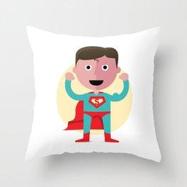 Man of spandex Throw Pillow