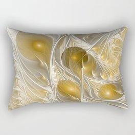 Golden, Abstract Fractal Art Rectangular Pillow