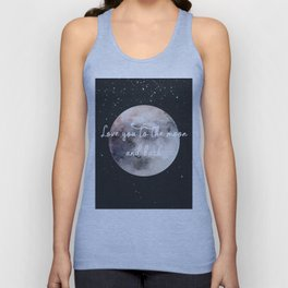 Love you to the moon and back Unisex Tank Top