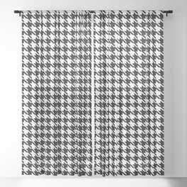 PreppyPatterns™ - Cosmopolitan Houndstooth - black and white Sheer Curtain