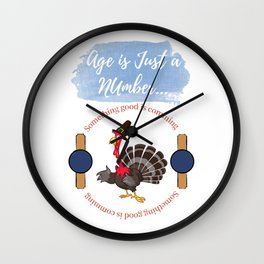 Age is Just a Number Wall Clock