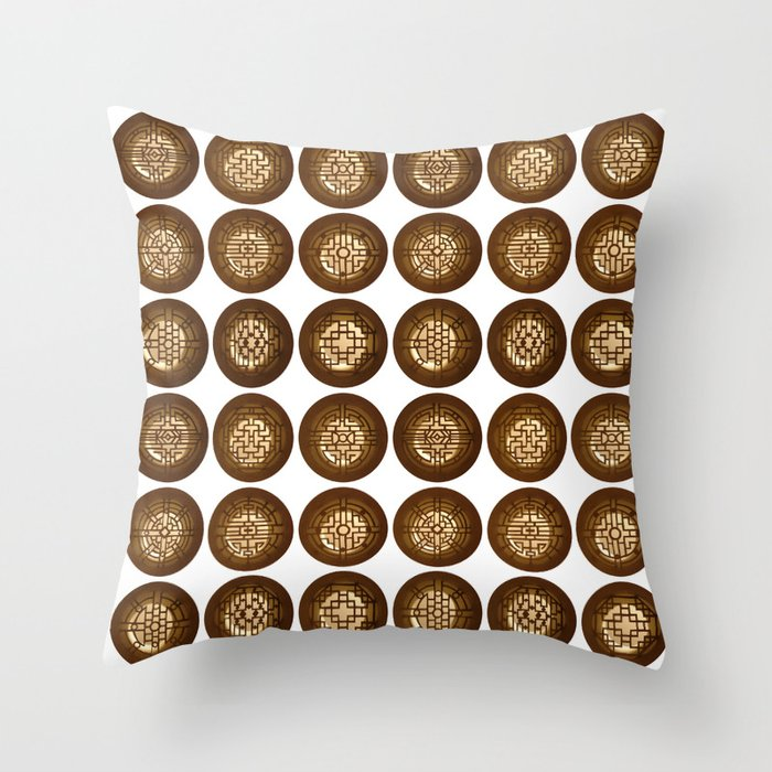 Chinese windows (Fenêtres chinoises) Throw Pillow