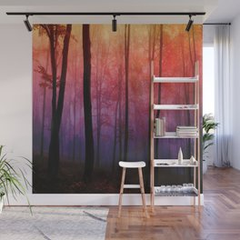 Whispering Woods, Colorful Landscape Art Wall Mural
