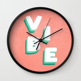 Vibe Retro Vintage Typography Wall Clock