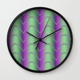 Purple&Green Textured Pattern Wall Clock