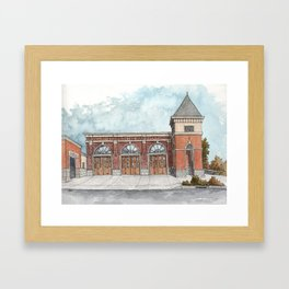 Clovis Fire Station #1 Framed Art Print