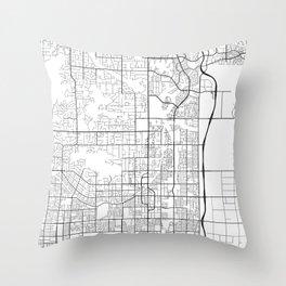 Scottsdale Map, USA - Black and White Throw Pillow