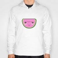 kawaii Hoodies featuring Kawaii Watermelon by Pati Designs