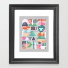 Pastel Geometry 2 Framed Art Print