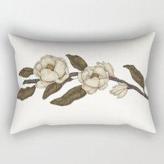 Magnolias Branch Rectangular Pillow