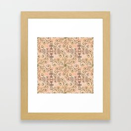 Project 315 | Zentangles & Stars on Creme Brule Framed Art Print