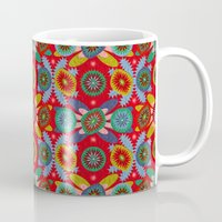 aztec Mugs featuring Aztec by Helene Michau