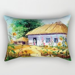 Ukrainian village Rectangular Pillow