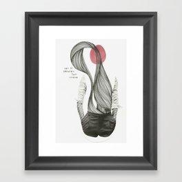 con el corazón tan suave como yo Framed Art Print
