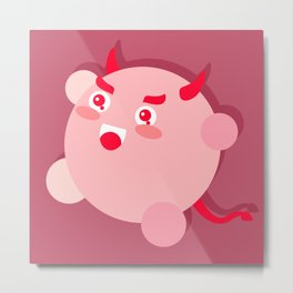 The cutest evil demon ever! Metal Print