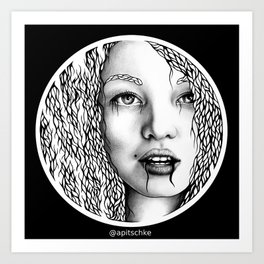 Circle portrait Art Print