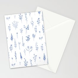 Wildflowers in blue Stationery Cards