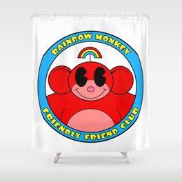 Rainbow Monkey Friendly Friend Club! Shower Curtain