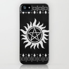 Supernatural Holiday Sweater iPhone Case
