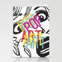 popart Stationery Cards featuring PopArt V by Ingunn Ro
