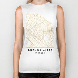 BUENOS AIRES ARGENTINA CITY STREET MAP ART Biker Tank
