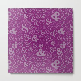 Ampersands - Purple Metal Print