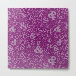 Ampersands - Purple Metal Print