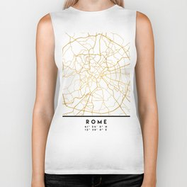 ROME ITALY CITY STREET MAP ART Biker Tank
