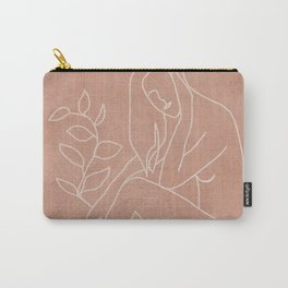 Engraved Nude Line I Carry-All Pouch