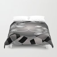 meow Duvet Covers featuring Meow by ArigigiPixel