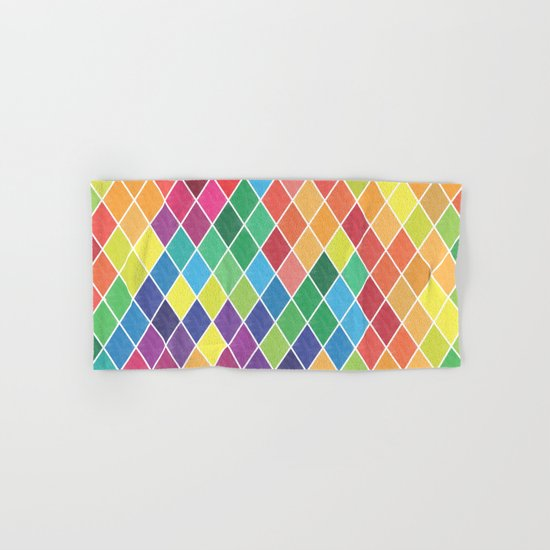 Watercolor Geometric Pattern II Hand & Bath Towel