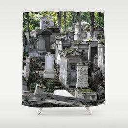 Père Lachaise Cemetery Shower Curtain