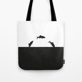 Fish print Black & White Tote Bag