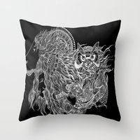 courage Throw Pillows featuring Courage~  by AnyaJocson