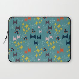 Deviled Starbursts Teal Laptop Sleeve